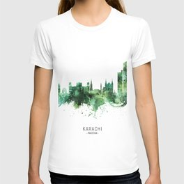 Karachi Pakistan Skyline T-shirt