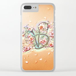 VD: monogram in flower Clear iPhone Case