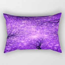Black Trees Purple Space Rectangular Pillow