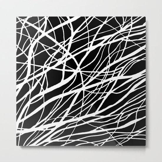Tumble 2 Black Metal Print