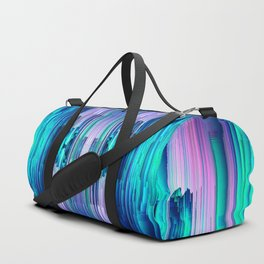 Cavernous Glitch - Abstract Pixel Art Duffle Bag