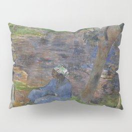 1887 - Gauguin - On the shore of the lake at Martinique Pillow Sham