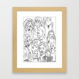 GirlsGirlsGirls Framed Art Print