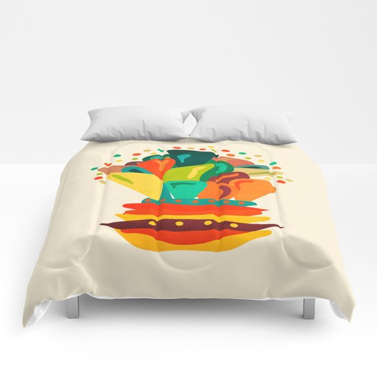 Colors and flowers 2 Comforters