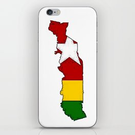 Togo Map with Togolese Flag iPhone Skin