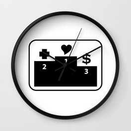 Preferences in Life Wall Clock