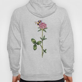Red clover pattern Hoody