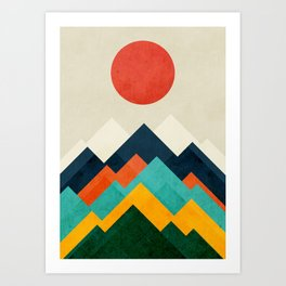 The hills are alive Art Print