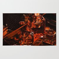 whiskey Area & Throw Rugs featuring Whiskey by Esra Meral Demircan