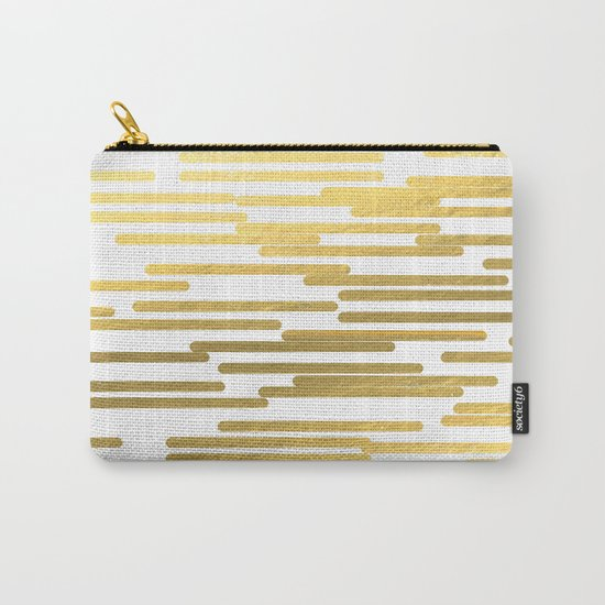 Gold Bars - trendy hipster gold foil shiny sparkle gilded gold bars money art print phone case  Carry-All Pouch
