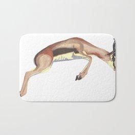 leaping gazelle Bath Mat