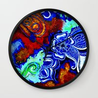 hawaii Wall Clocks featuring Hawaii by KASZANDRA