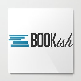 Bookish Metal Print