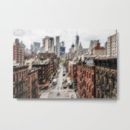 Chinatown, New York City Landscape Painting by Jeanpaul Ferro Metal Print