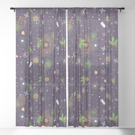 Solstice Holiday Sheer Curtain