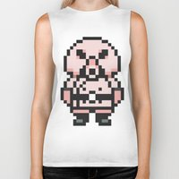 earthbound Biker Tanks featuring Pigmask - Mother 3 / Earthbound 2 by Studio Momo╰༼ ಠ益ಠ ༽