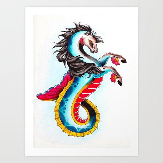 hippocampus Art Print