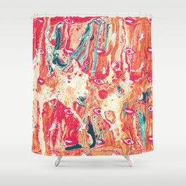 Senses pouring III Shower Curtain