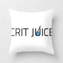 CRIT JUICE: Classic Logo Throw Pillow