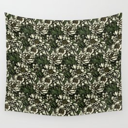 Botanic white Wall Tapestry