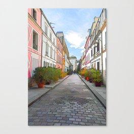 Rue Cremieux in Paris Canvas Print