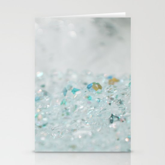 Blue Bling Stationery Cards