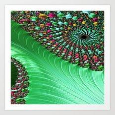 Carnival Green Art Print
