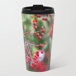 Red Holly Berries Travel Mug