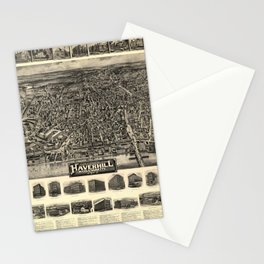 Aerial View of Haverhill, Massachusetts (1914) Stationery Cards