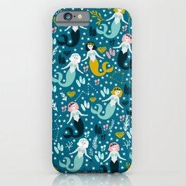 Cute Mermaid and Stars iPhone Case
