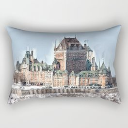 Château Frontenac Rectangular Pillow