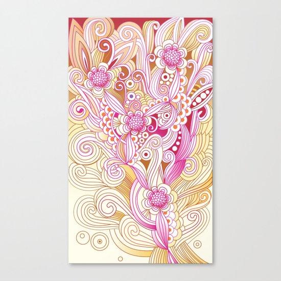Flower fire Canvas Print