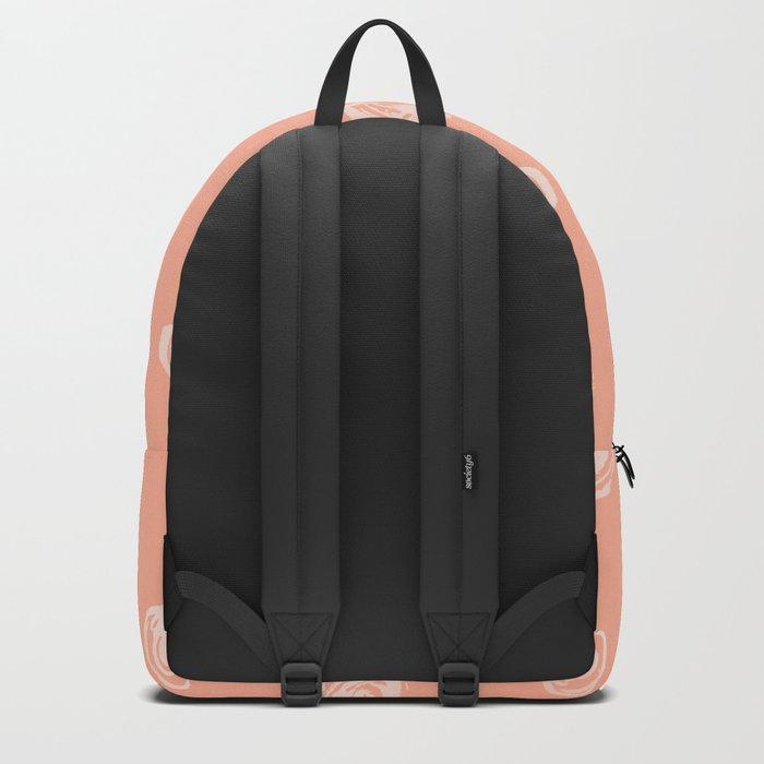 Sweet Life Rosebud Peach Coral Pink Backpack