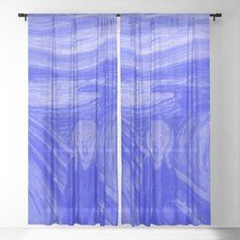 The Scream - Edvard Munch - Japanese Porcelain Concept Sheer Curtain
