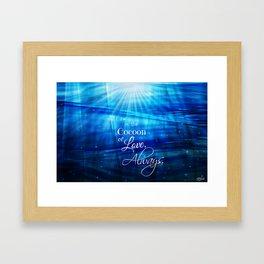Cocoon of Love Framed Art Print