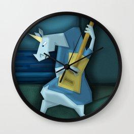 Old Guitarist Unicorn Wall Clock