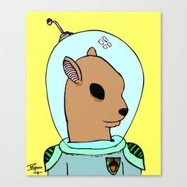 Dr. Huntington, Space Squirrel Canvas Print