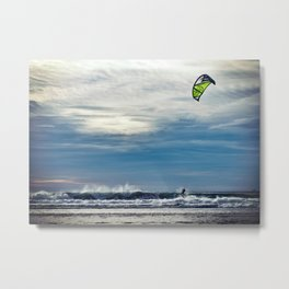 Parasailing On The Surf Metal Print