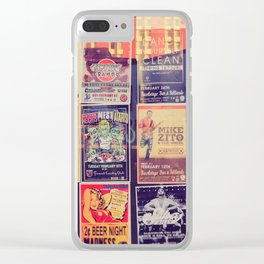 Concert posters Clear iPhone Case