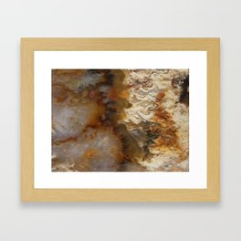 Abstract Agate Framed Art Print