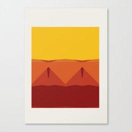 Geometric Afternoon Print Canvas Print