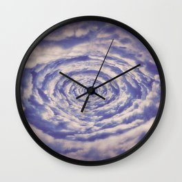Round Clouds Wall Clock