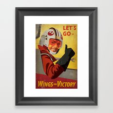 Wings for Victory Framed Art Print