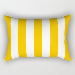 Fluorescent orange - solid color - white vertical lines pattern Rectangular Pillow