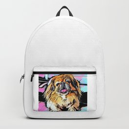 Pekingese Cartoon photo Backpack