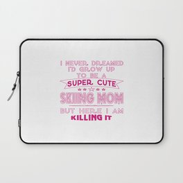 SUPER CUTE A SKIING MOM Laptop Sleeve