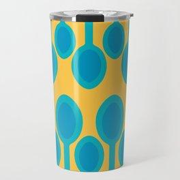 Blue spoons field Travel Mug