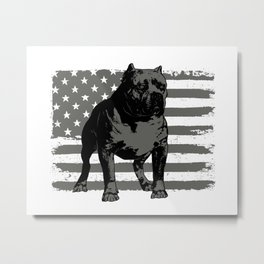 American bully. Gift for boyfriend. Pitbull terrier dad Metal Print
