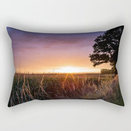 Rainy Yet Colorful Rectangular Pillow