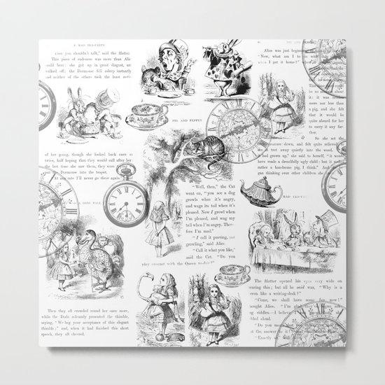 Alice in Wonderland - Pages Metal Print